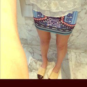 Jealous Tomato Gatsby Rainbow stretch mini skirt